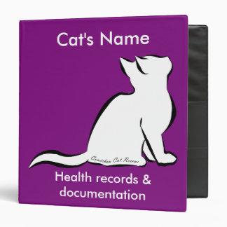 Black cat, white fill, inside text binders