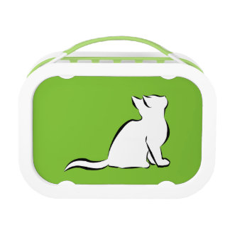 Black cat, white fill lunch box