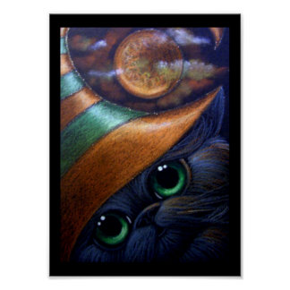 BLACK CAT WITCH HAT 1 Poster