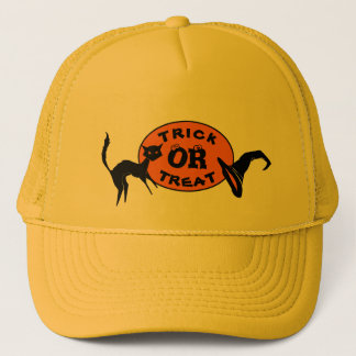Black Cat & Witch Hat Halloween Trucker Hats