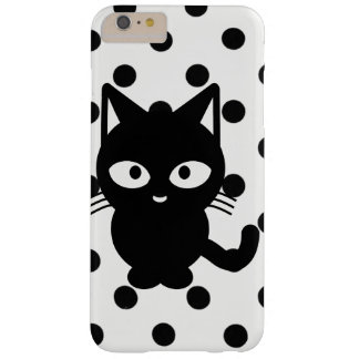 black cat with poke dots cell phone case