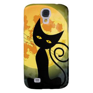 Black Cat Yellow Moon Galaxy S4 case