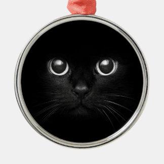 Black Cat Yule Christmas Ornament