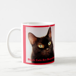 Black Cats Are Beautiful Coffee Mug (version 2)