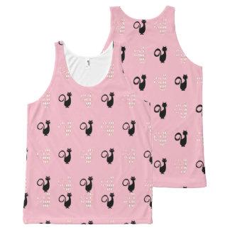 Black-Cat's_Argyle-Diamonds-Pink-Women's-Tank-Top