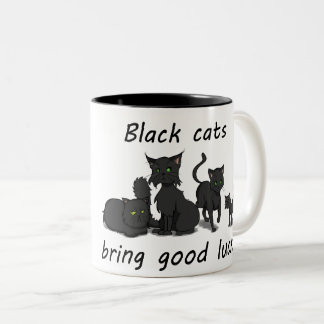 Black Cats Bring Good Luck! Mug