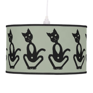BLACK CATS by Slipperywindow Pendant Lamp