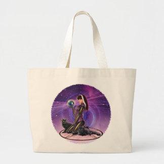 """Black Cats Divination"" Large Tote Bag"