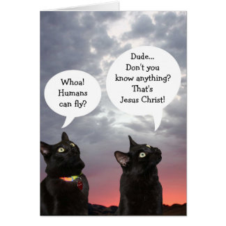 Black Cats Easter Card