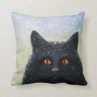 Black Cats Get A Bad Rap children's book cover Throw Pillow