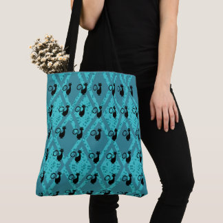 Black_Cats_Harlequin(c)Jade-Teal-Blk-Multi-Styles Tote Bag