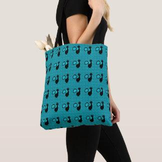 Black_Cats_Ocean-Blue(c)Multi-Styles Tote Bag