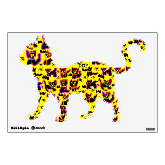 black cats party wall sticker