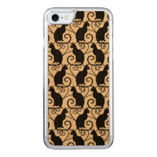 Black Cats Pattern Carved iPhone 8/7 Case