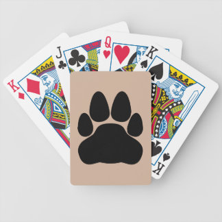 Black Cat's Paw Print for Pet-lovers Bicycle Playing Cards