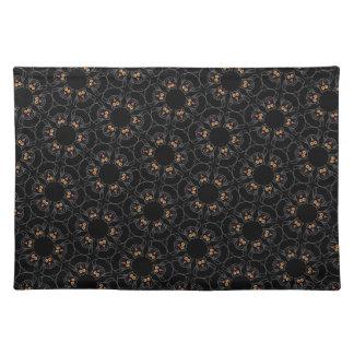 Black cats placemats