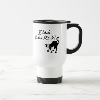 Black Cats Rock Travel Mug