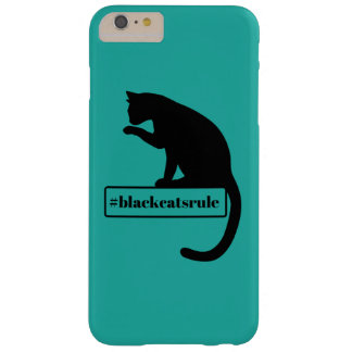Black Cats Rule Barely There iPhone 6 Plus Case
