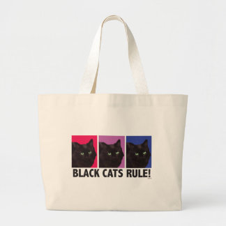 Black Cats RULE! Jumbo Tote Bag