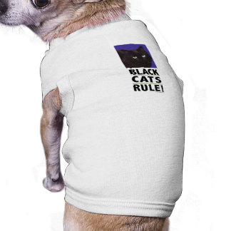 Black Cats RULE! Tee for Cats & Dogs Pet Shirt