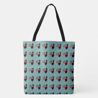 Black_Cats_Teal-Melon-Orange(c)Multi-Styles Tote Bag