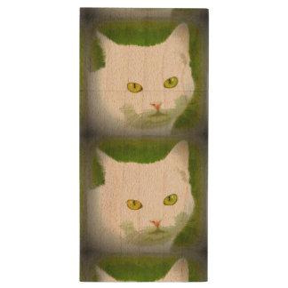 black cats/white cats wood USB 2.0 flash drive
