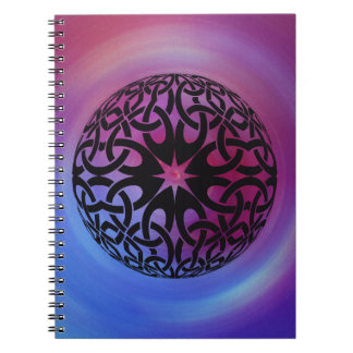 Black Celtic knot circle Notebook