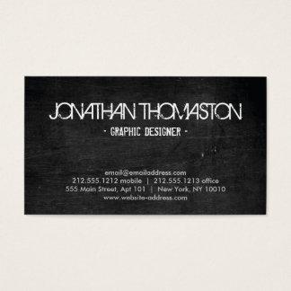 Black Chalkboard Designer Business Card