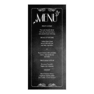 Black Chalkboard Elegant Slim Dinner Menu