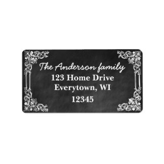 Black Chalkboard frame customize address label