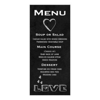 Black Chalkboard Menu Love Heart - Wedding, Party