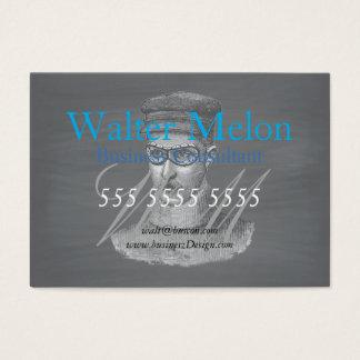 Black Chalkboard Steampunk Goggles Man Business Card