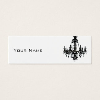 Black Chandelier Mini Business Card