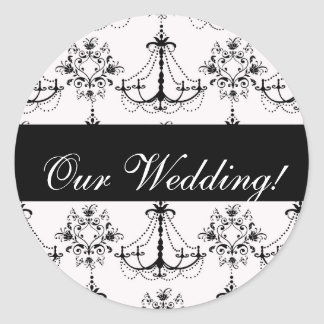Black Chandelier Wedding Sticker