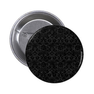 Black Charcoal Damask Pins