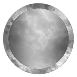 Black Charcoal Marbled Melamine Plate