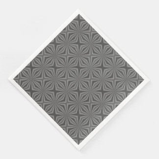 Black Charcoal Squiggly Squares Paper Dinner Napkin