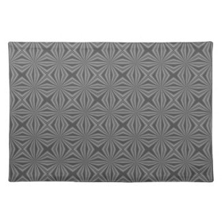 Black Charcoal Squiggly Squares Placemat