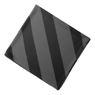 Black Charcoal Tuxedo Fat Stripe Lapel Pocket Bandana
