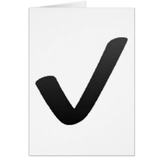 Black Check Mark - Emoji Card