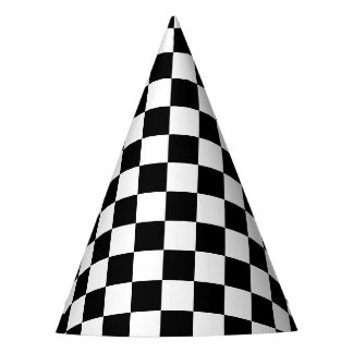 Black Checkered Party Hat