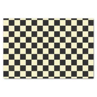 Black Checkered Picnic Check Simple Deco Pattern Tissue Paper