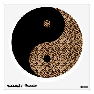 Black & Cheetah Ying Yang Wall Art Design Wall Decal