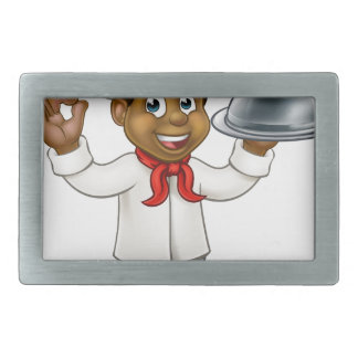 Black Chef Cartoon Character Belt Buckles