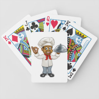 Black Chef Cartoon Character Bicycle Playing Cards