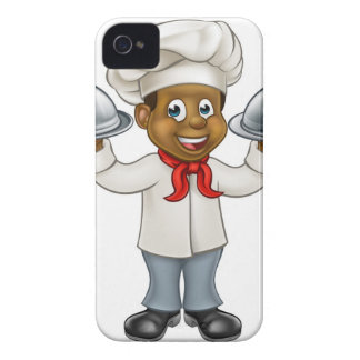 Black Chef Cartoon Character Case-Mate iPhone 4 Cases