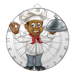 Black Chef Cartoon Character Dartboard
