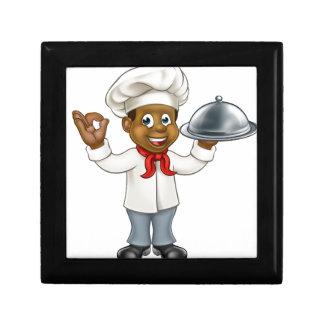 Black Chef Cartoon Character Gift Box
