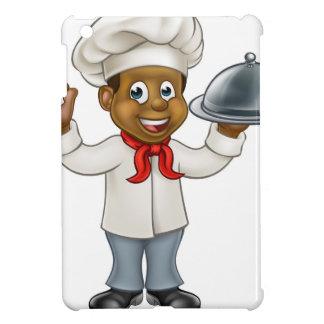 Black Chef Cartoon Character iPad Mini Covers