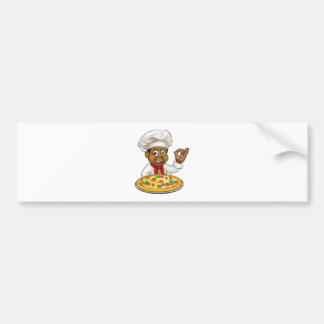 Black Chef Cartoon Character Mascot Bumper Sticker